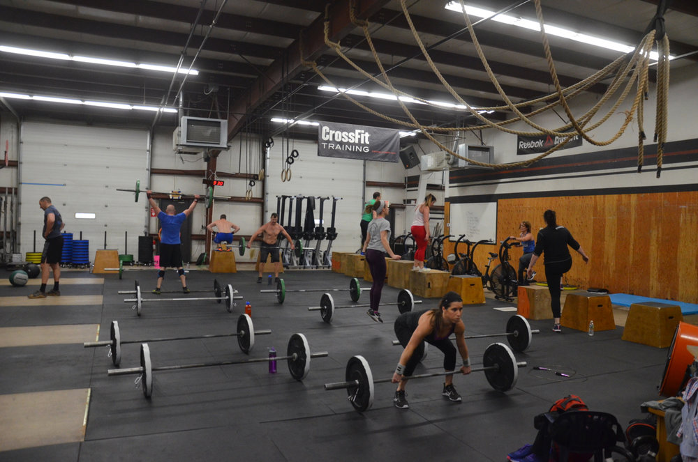 Full house for the Saturday 9:00am class.