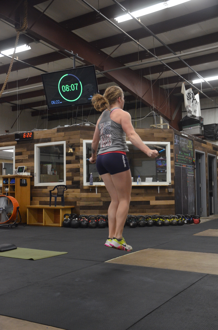 Heidi working through her double unders.