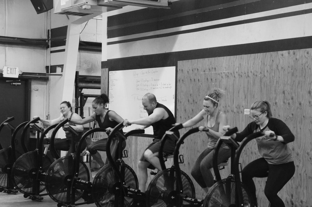 The Noon class working for their max calories.