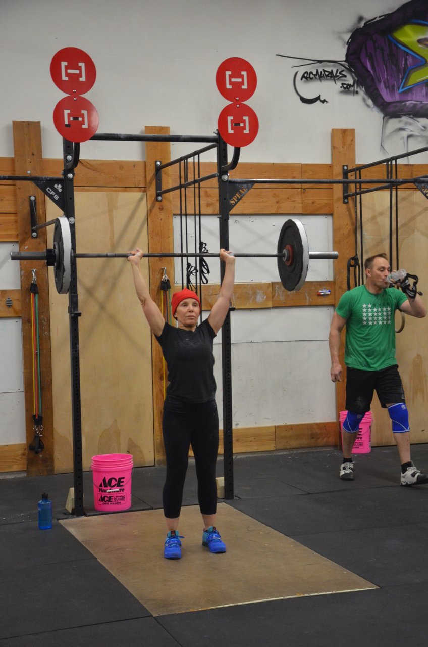 Deb making 70 lbs look easy for Grace!