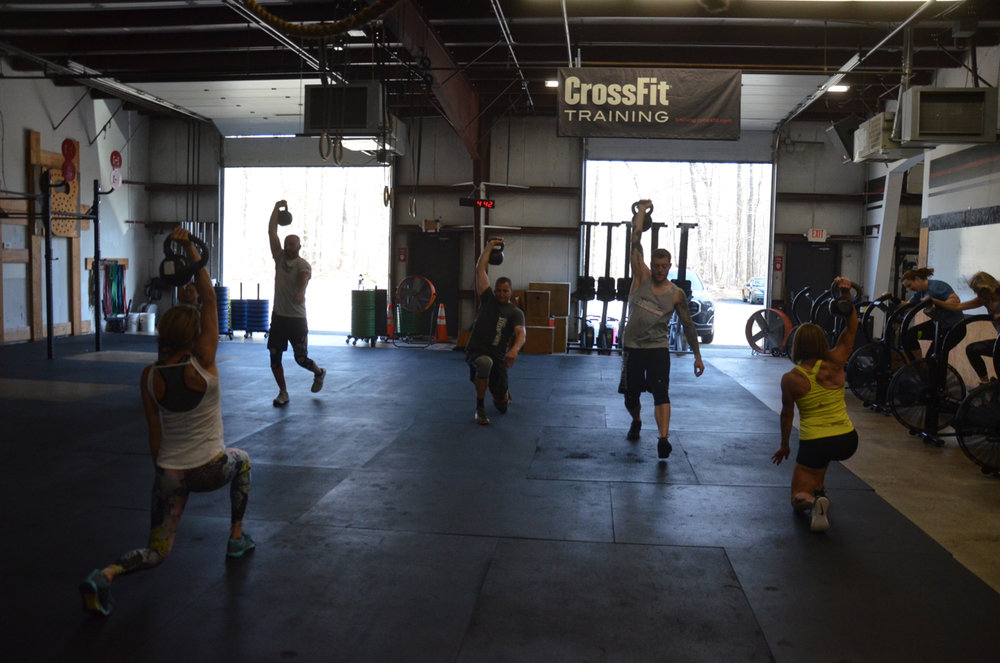 The 4pm class at the start of today's metcon.