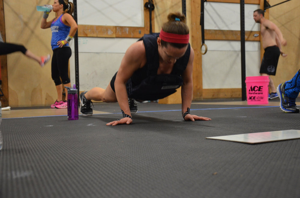 """Kelly completed a CrossFit goal this weekend by completing """"Murph"""" with 14lb weight vest."""