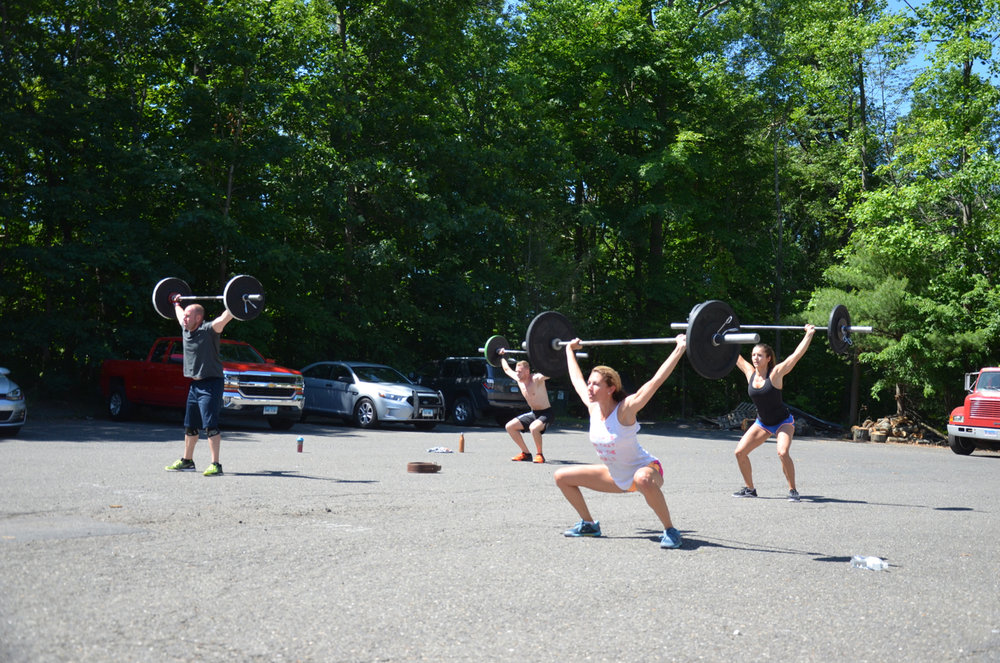 Rob, Danielle, Tanner and Kat during Saturday's 10am class.