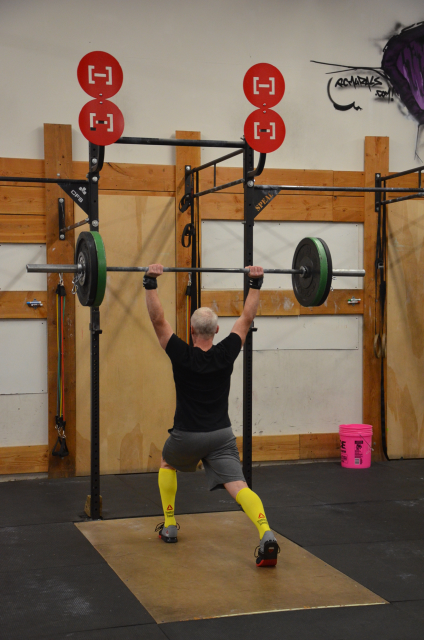 Scott showing a great catch position for his Split Jerk.
