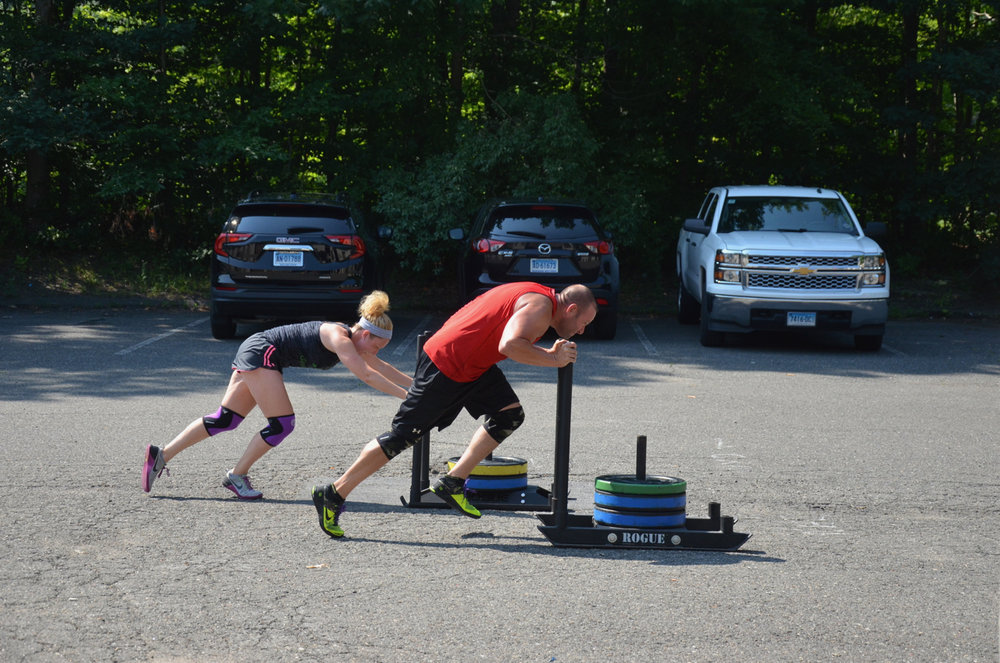 Couples that sled push together, stay together.
