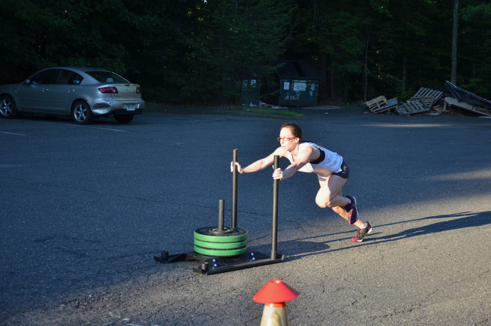 Leila during her 30ft Sled Push.