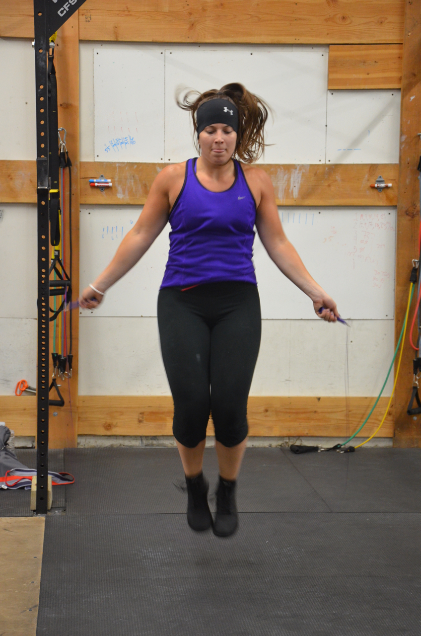 Jess working through her Double Unders.