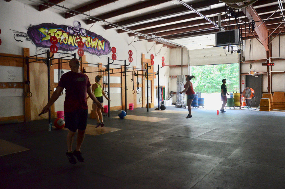 The Noon class working through their double unders.