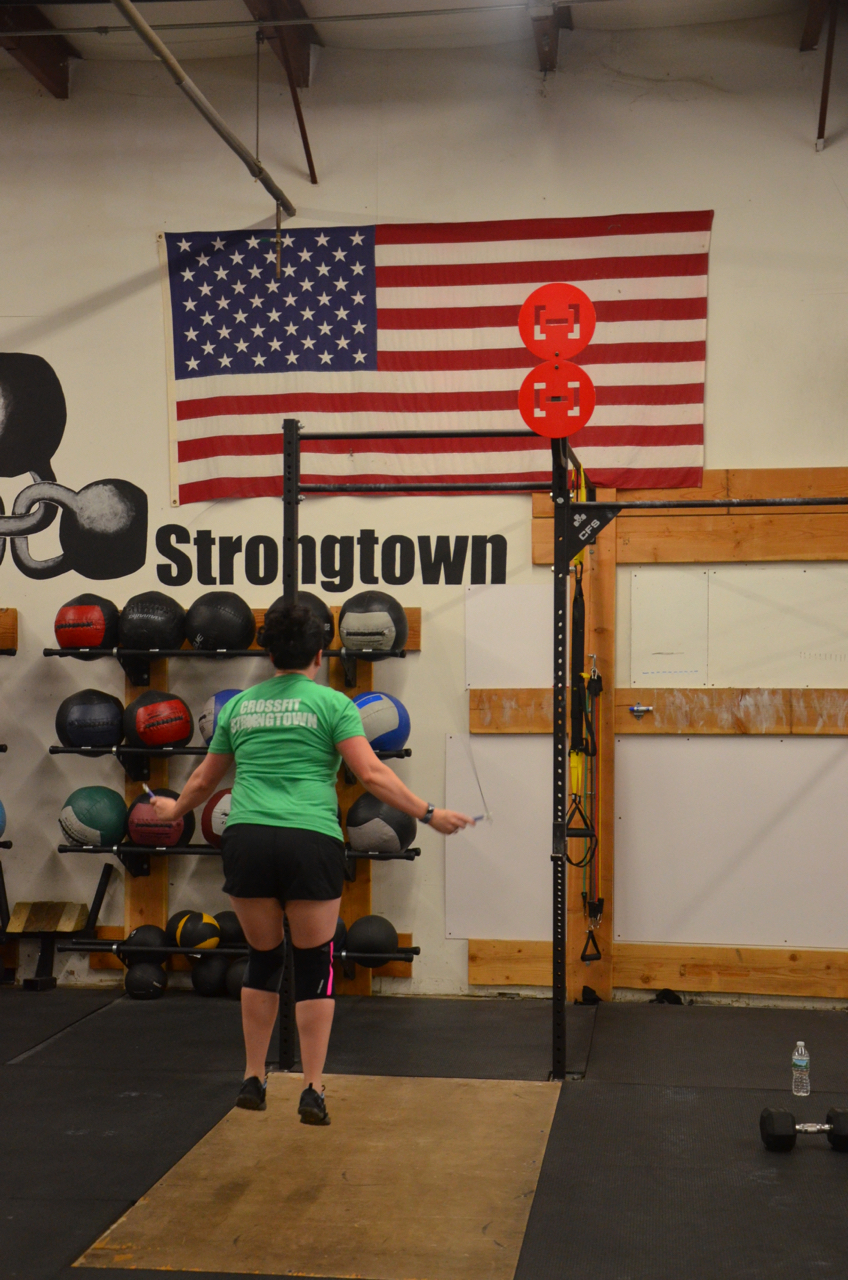 Caitlin flying through her double unders.