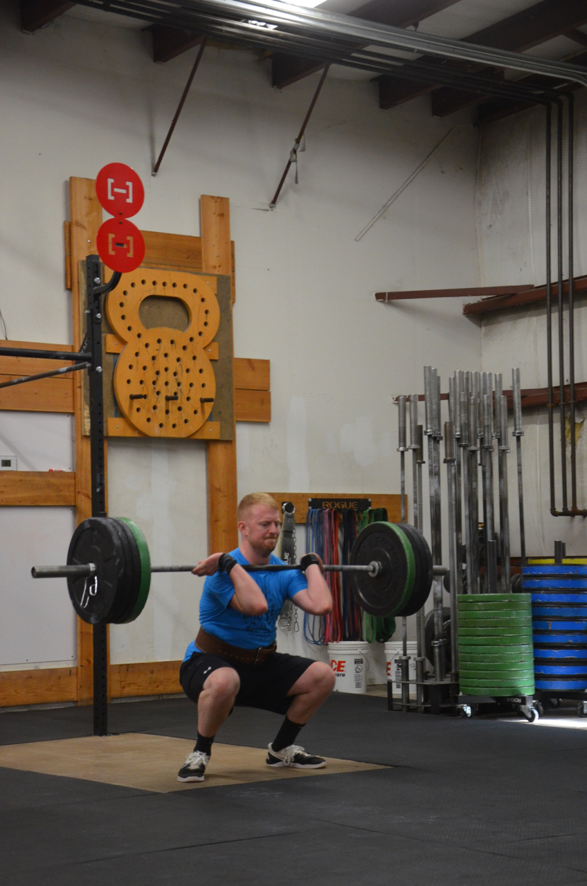 Madden showing nice elbows on his Squat Clean.