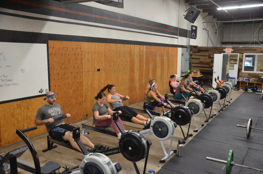 Jimmy and the 4pm ladies starting their row.