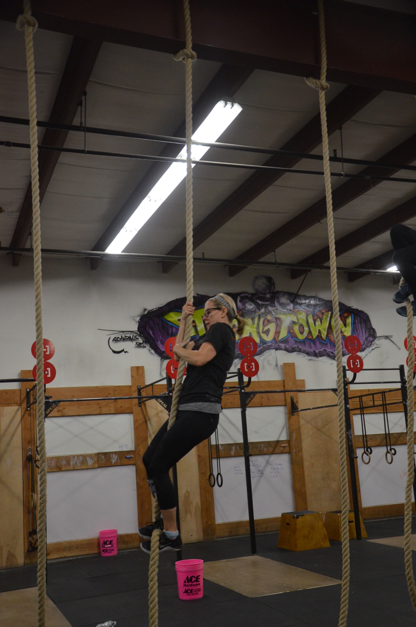 Congratulations to Paula on conquering the rope!
