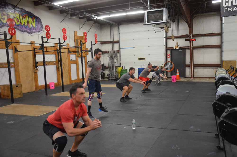 The 5pm class at the start of today's Metcon.