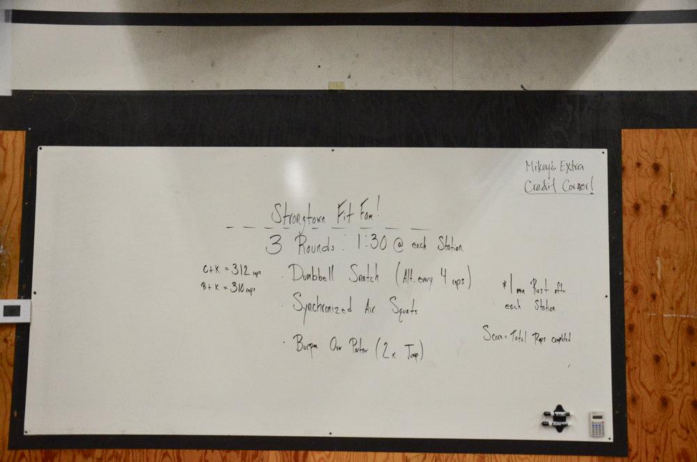 Strongtown FitFam Class 12/2/18