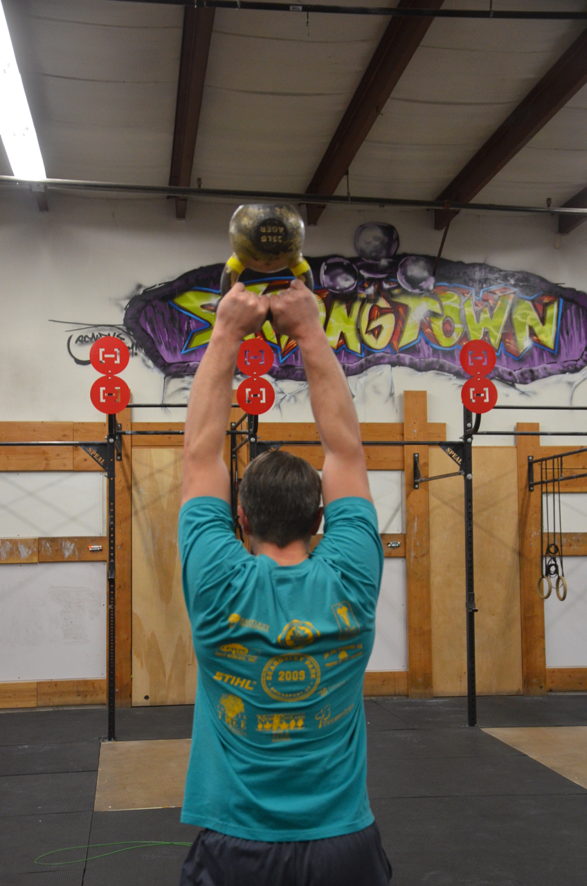 Dan showing a nice lockout on his Kettlebell Swings.