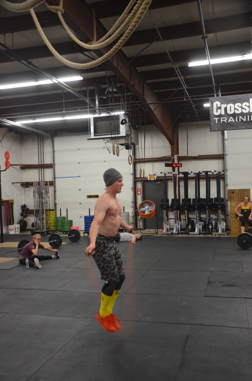 Scott on his last round of Double Unders.