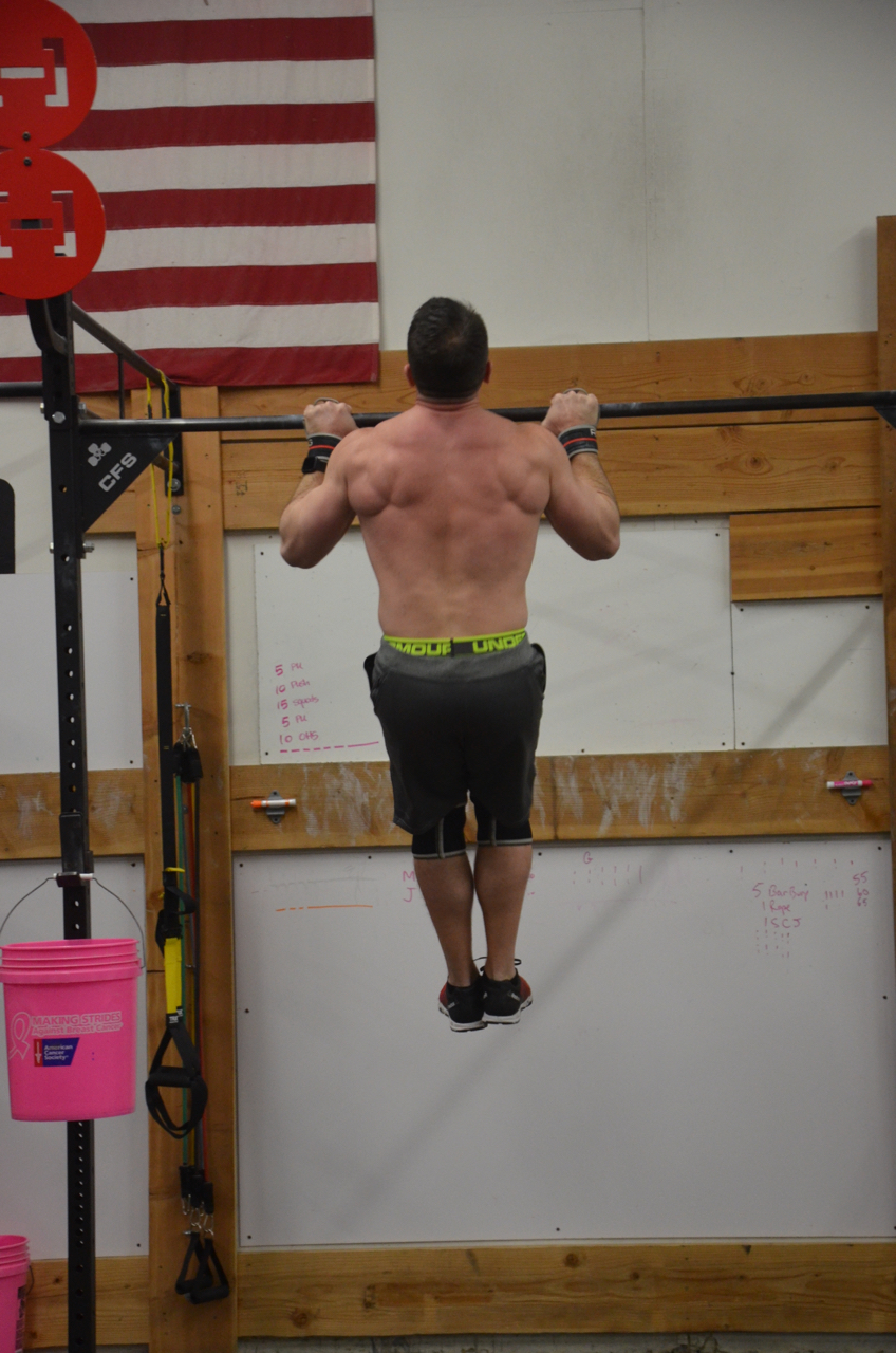Brian showing good form on his Pull-ups.