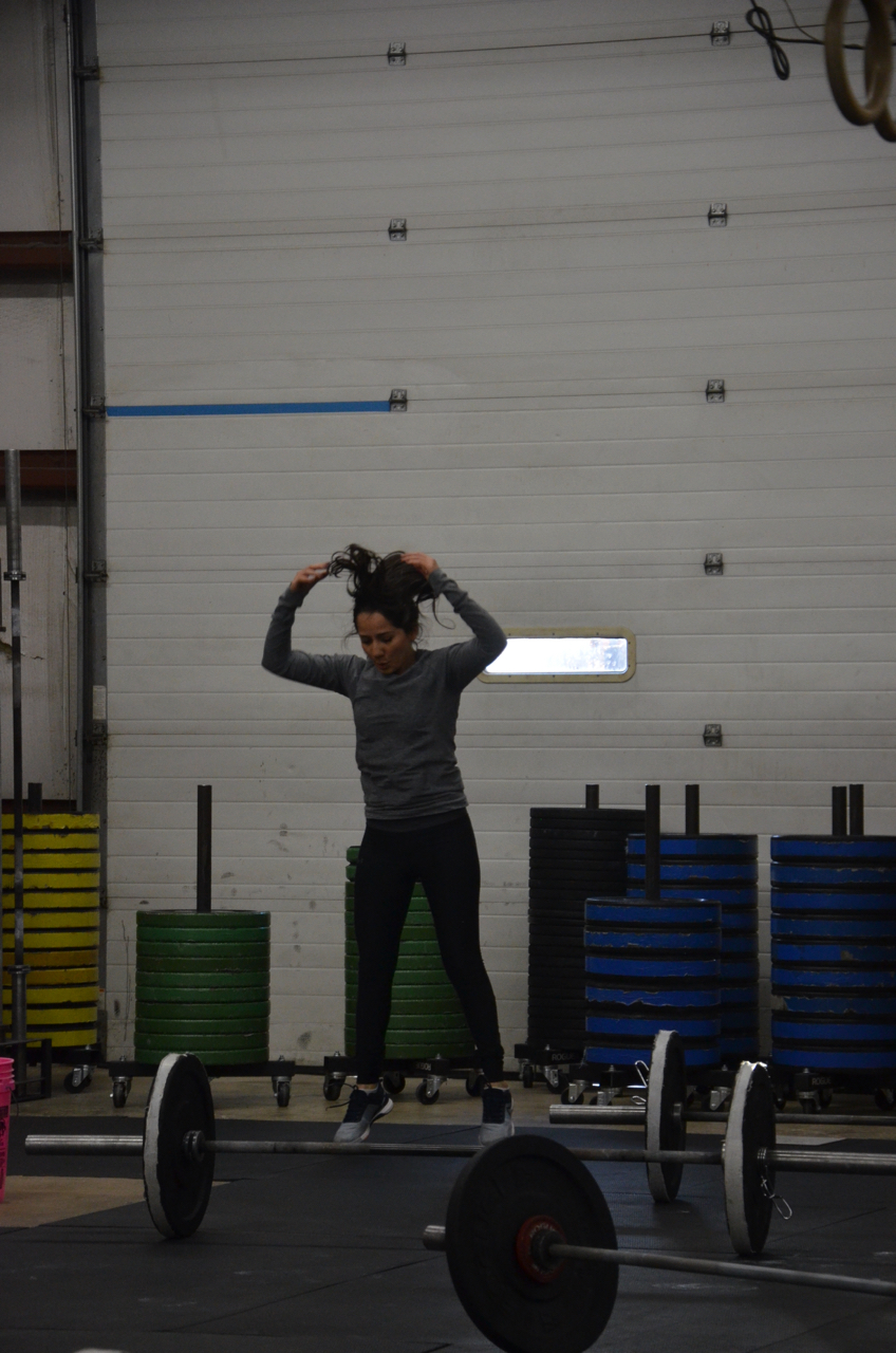 Marcia holding herself to good standards of her Burpees.