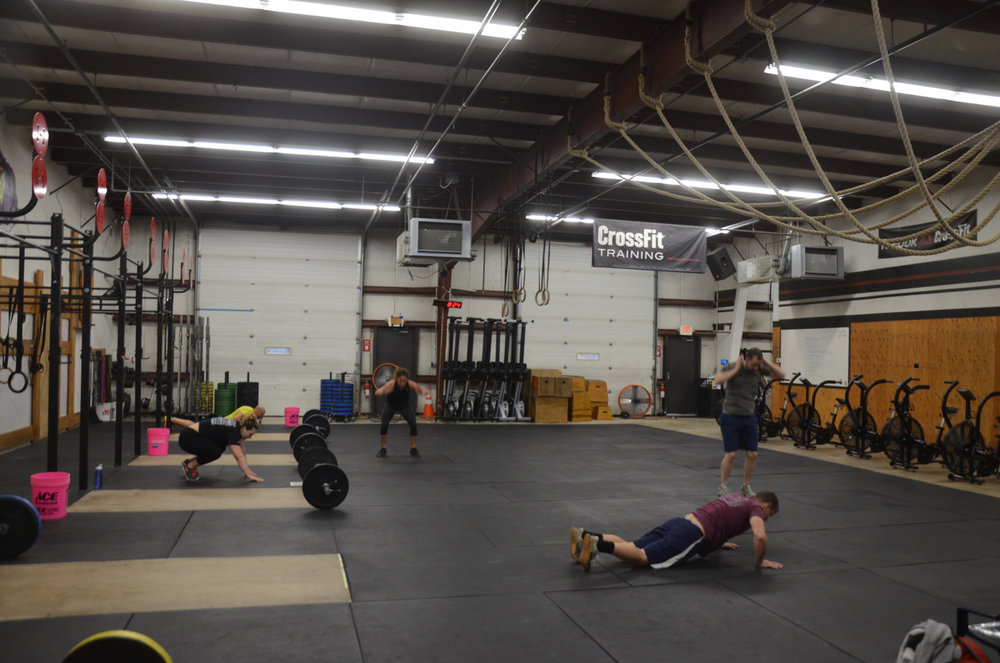 The 8am class ending the year with 7 minutes of burpees.