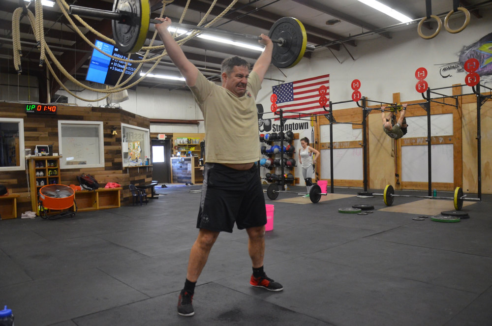 Bob fighting through Friday's Power Snatches!