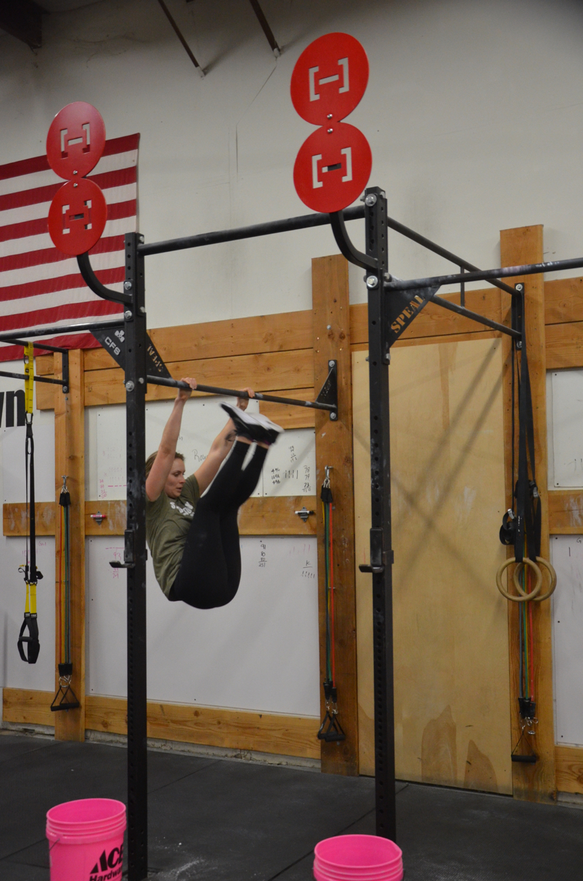 Congrats to Britt on learning how to connect her toes to bar!