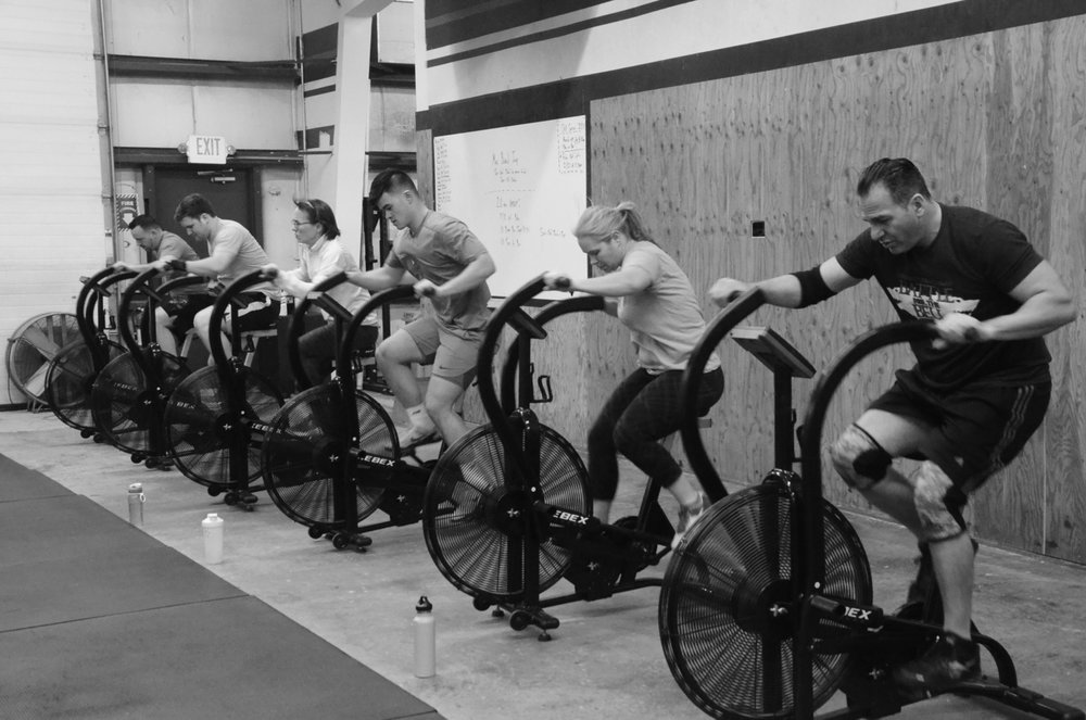 The 5pm class working hard for those calories.