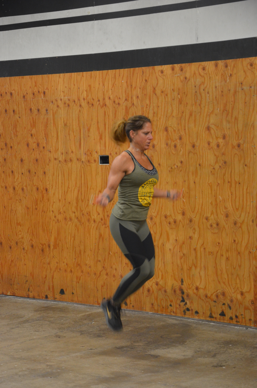Tammy was too quick for the camera during her double unders.