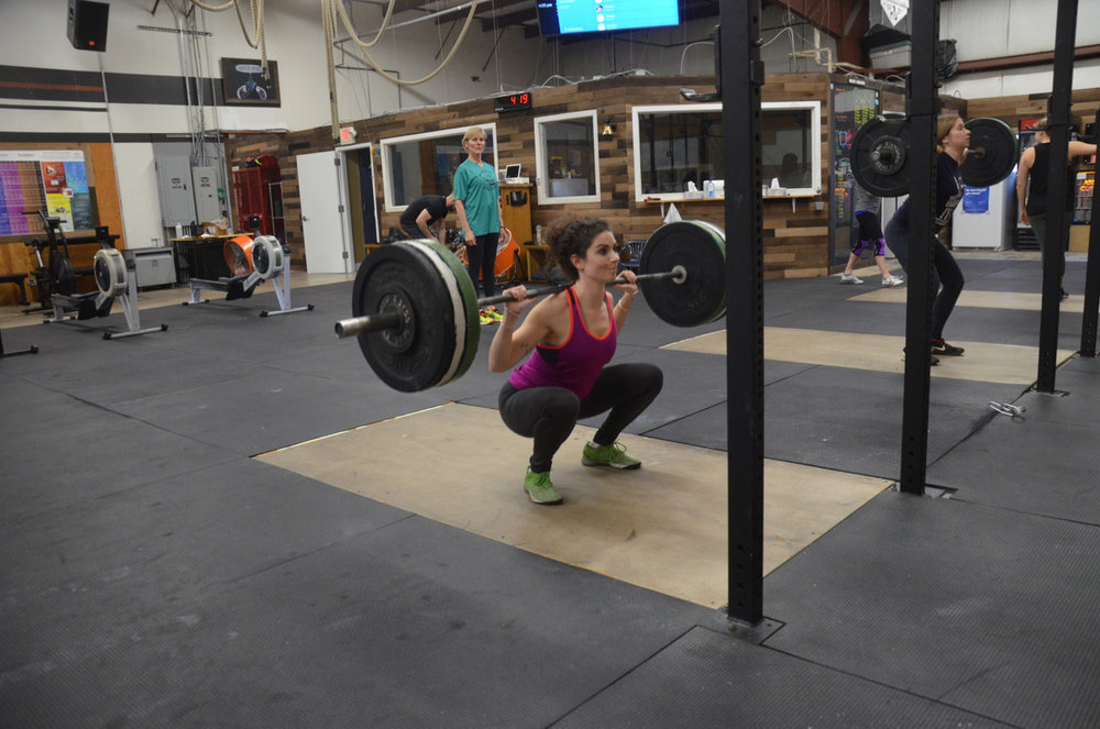 Krista showing great depth on her back squats.