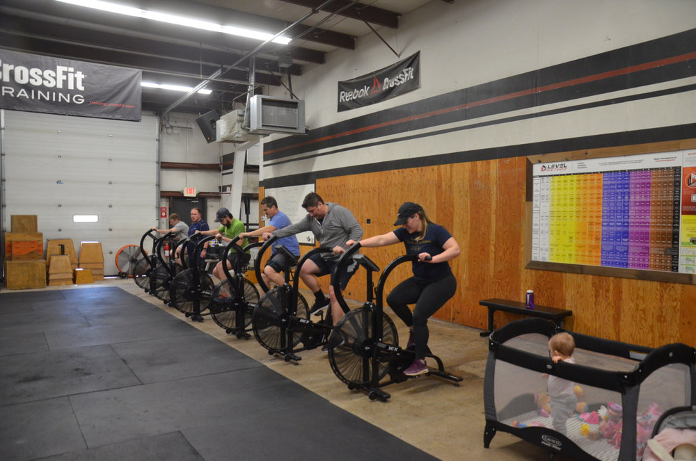 The 12pm class on their first 1000m time trial.