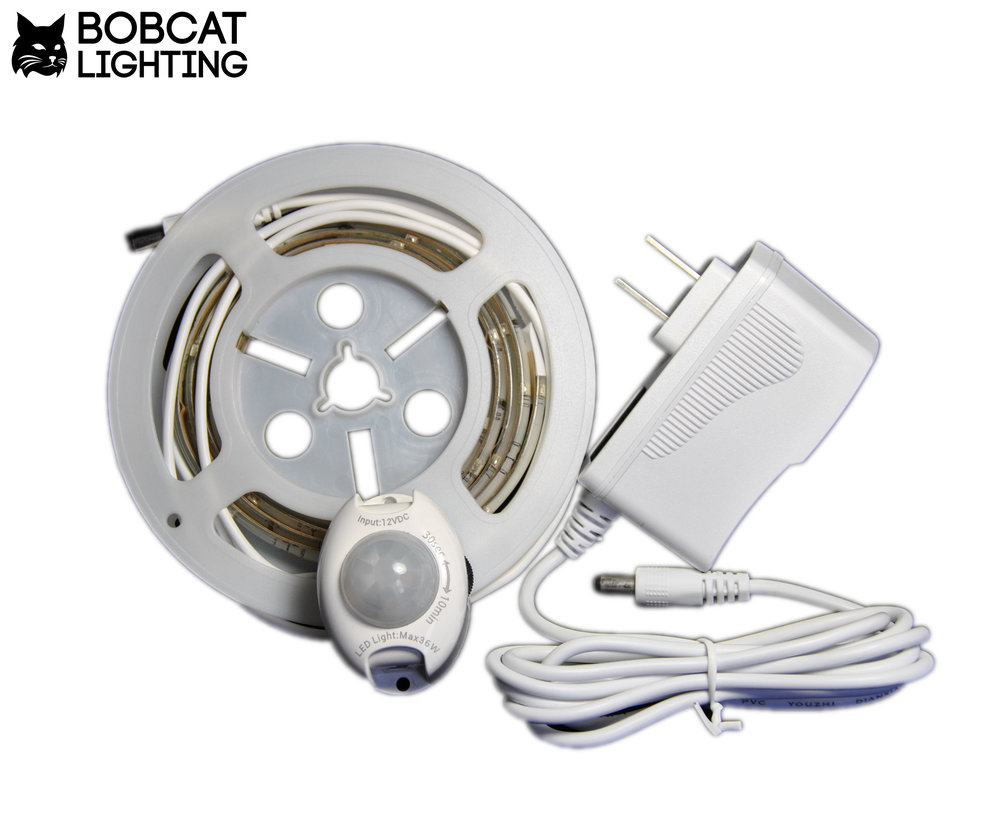 Bobcat Lighting Led Security Automatic Emergency Light Motion Activated Sensor Bed Flexible Strip Night Kit Soft Glow In The