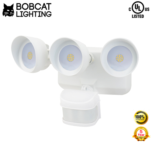 Led motion activated security light 3 head 36 watt 3000 lumens 2222g mozeypictures Gallery