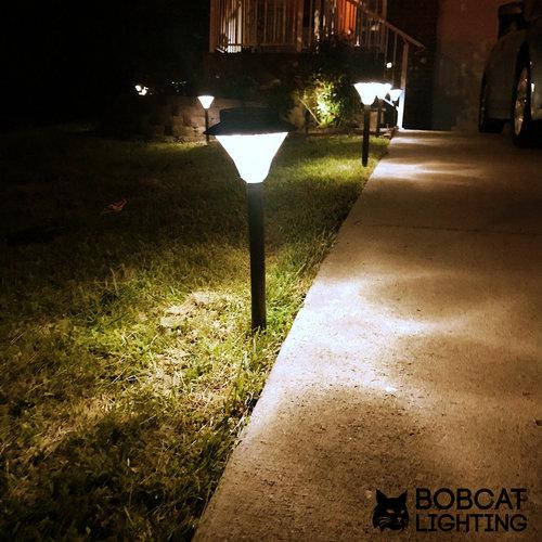 2 pack led solar landscape lights for pathway bobcat lighting