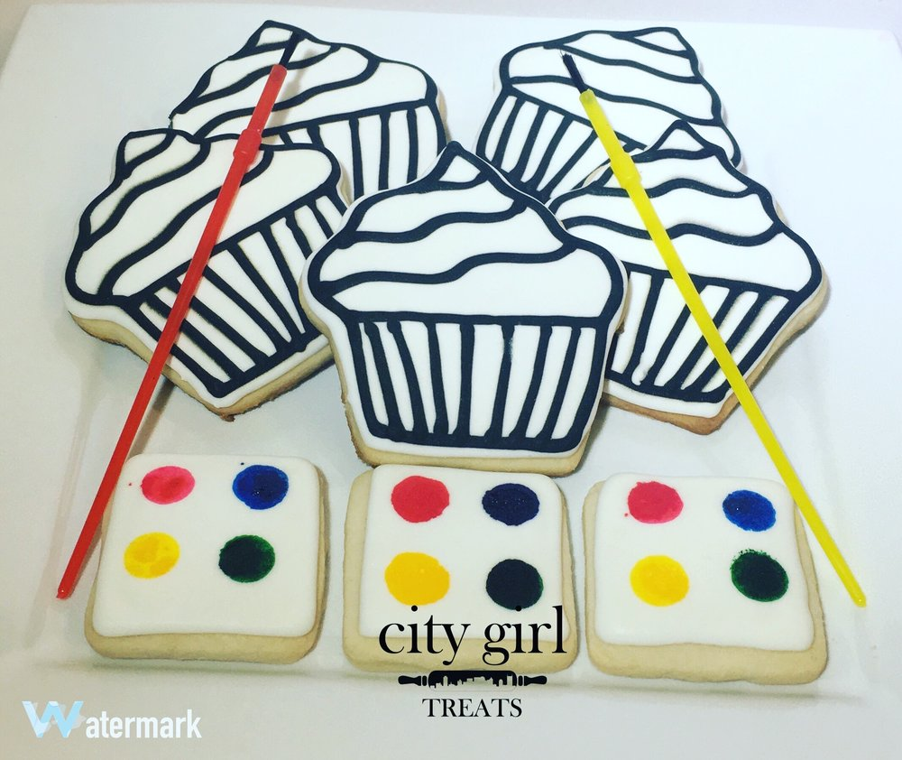 Custom Paint Your Own Cookies Nashville Bakery City Girl Treats