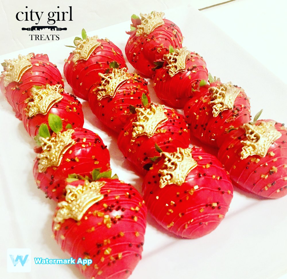 Chocolate Covered Strawberries by Nashville, TN based bakery City Girl Treats Nashville Treats