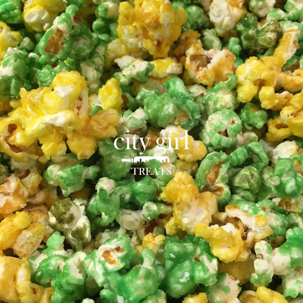 Candied popcorn by Nashville, TN based bakery City Girl Treats Candied Popcorn