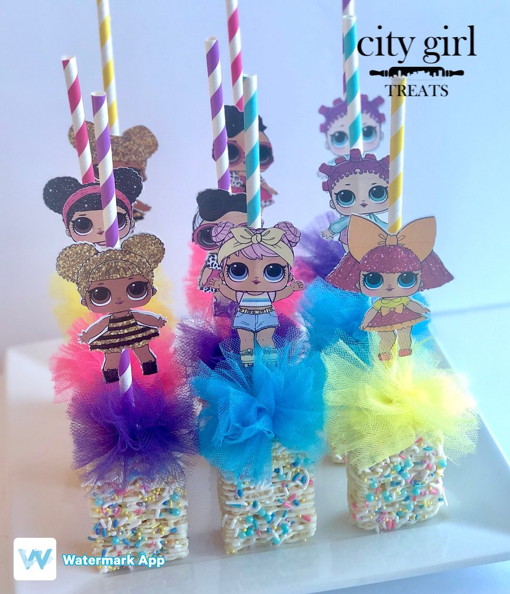 Dipped Rice Krispy Treats by Nashville, TN based bakery City Girl Treats Nashville Treats