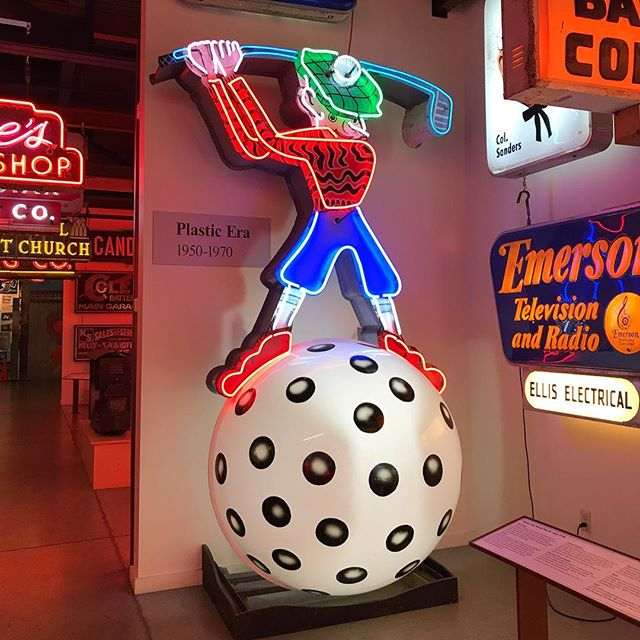 Fore!!! Sundays are for swinging with this  plastic era sign. From the collection of the @americansignmuseum
