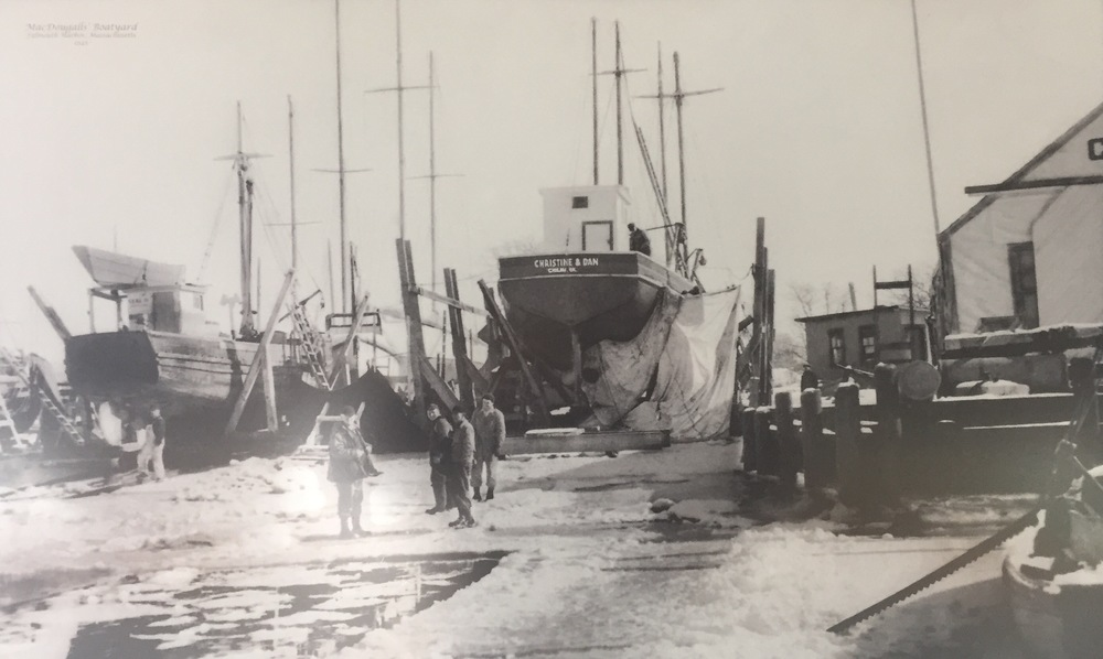 The building of the Christine and Dan, Falmouth, MA 1945
