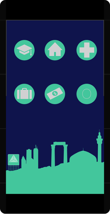 Mockup of the app, designed by Urban Refuge