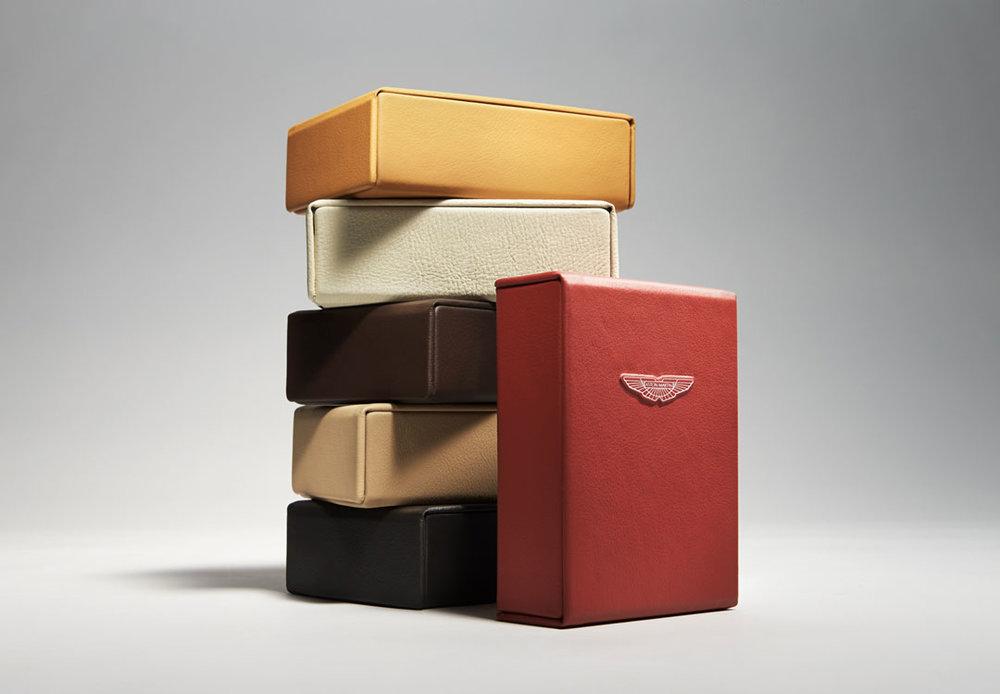 Aston Martin Leather Boxes