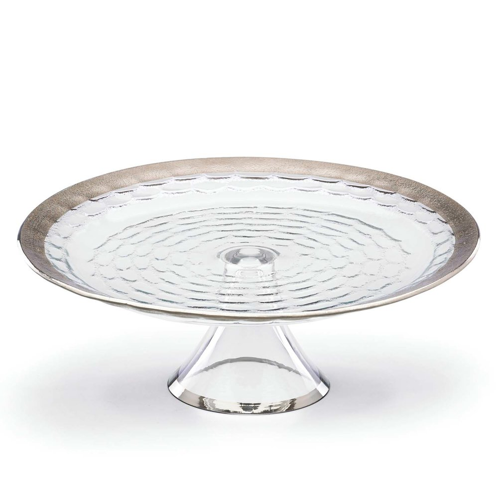 Truro platinum glass cake plate with stand  sc 1 st  Michael Wainwright & Truro platinum glass cake plate with stand u2014 Michael Wainwright USA