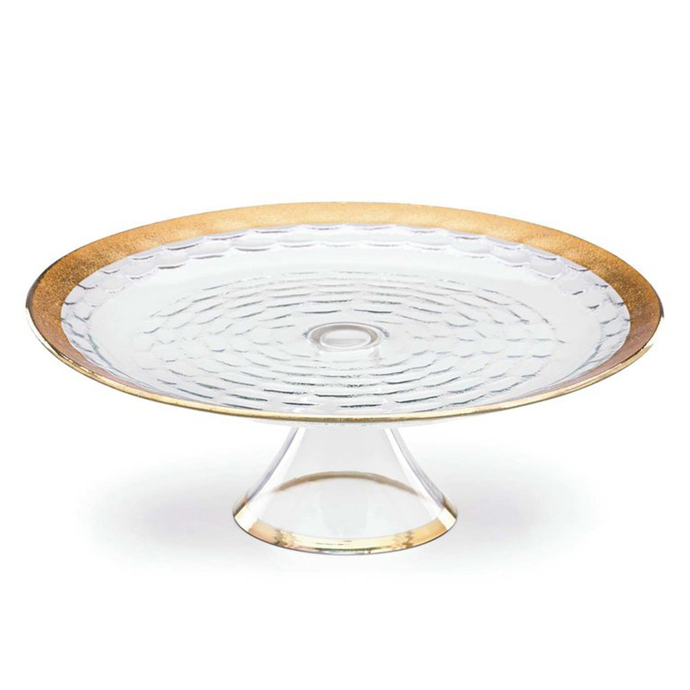 Truro gold glass cake plate with stand  sc 1 st  Michael Wainwright & Truro gold glass cake plate with stand u2014 Michael Wainwright USA
