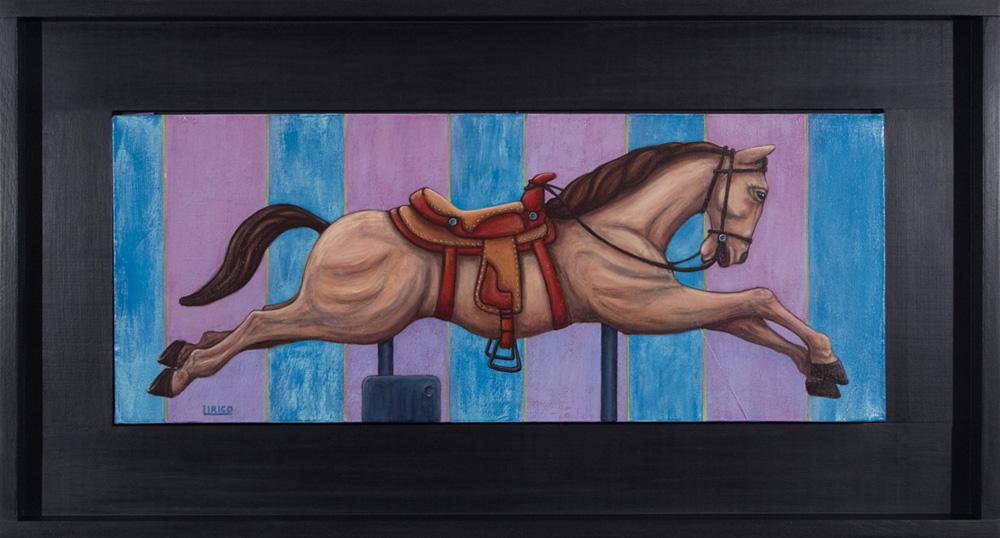 "25¢ Of Freedom - acrylic on canvas 12"" x 30"""