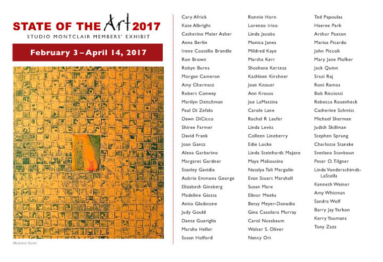 Studio Montclair NJ - Spring Group Exhibit 2/2017