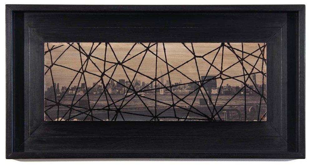 """No NY #2 - acrylic photo transfer on panel 26"""" x 14"""""""