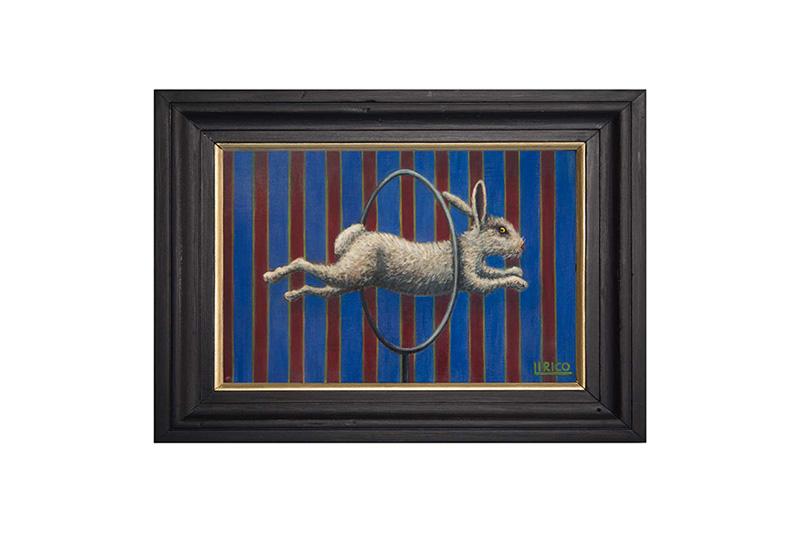 "The Brave Rabbit #1 - acrylic on canvas 8"" x 14"""