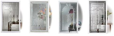 Entry door designer glass