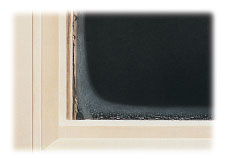 PVC window with warm edge spacer.