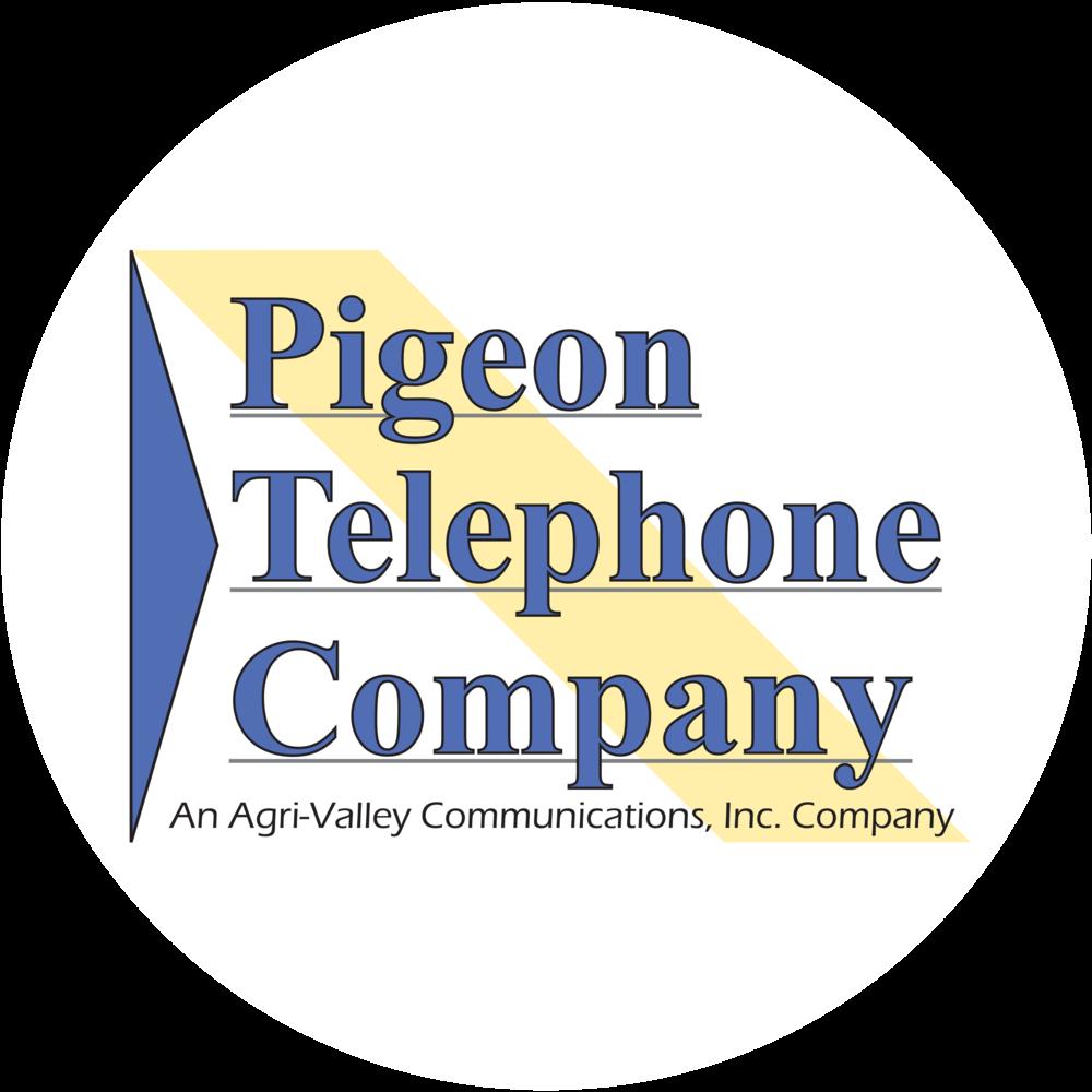 Pigeon Telephone Company Logo Circle
