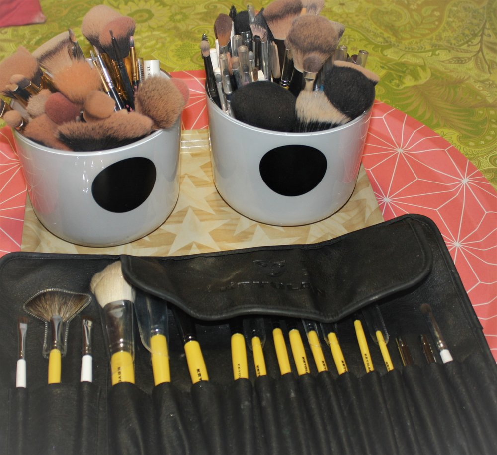 My brushes -   Natural hair - Kryolan professional set
